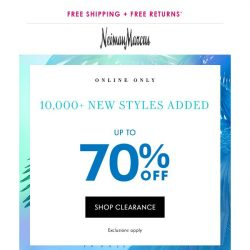 [Neiman Marcus] Have you saved 70% off yet?