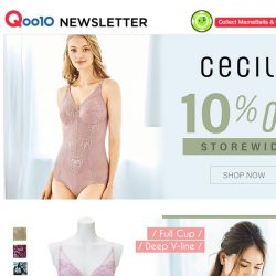 [Qoo10]  [ Cecile ] 10% Off Storewide!