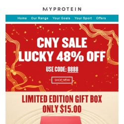 [MyProtein] Ends Today! 48% Off Sale 🎆