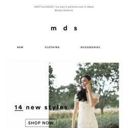 [MDS] You've got to see these   14 New Styles Just Launched!😍