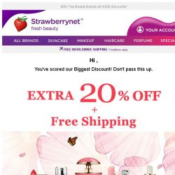 [StrawberryNet] , VIPs Only! Extra 20% Off + Free Shipping is Yours ⭐