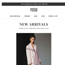 [Yoox] New Arrivals. Need we say more?  😏