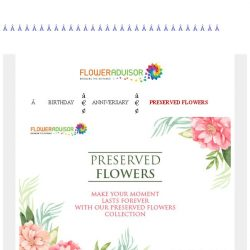[Floweradvisor] Start Today! Up To 35% Off Preserved Flowers