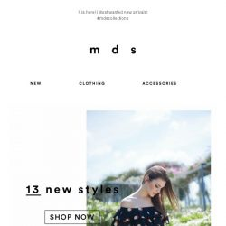[MDS] Just landed   These styles are waiting for you😍