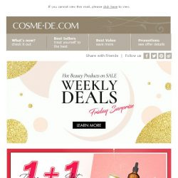 [COSME-DE.com] Buy 1 Get 1 Free for limited time! Selected makeups are  on sale Grab it now➤