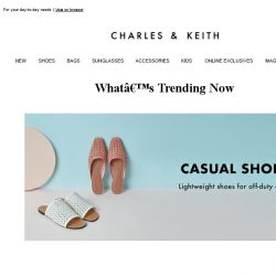 [Charles & Keith] Casual Shoes You'll Wear On Repeat