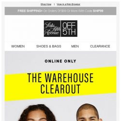 [Saks OFF 5th] The Warehouse Clearout: 75% off and better