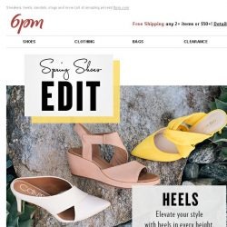 [6pm] Every shoe you need this spring (on sale)!