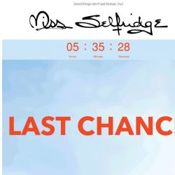 [Miss Selfridge] LAST CHANCE: AT LEAST 20% OFF EVERYTHING