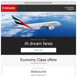 [Emirates] Your dream holiday from just SGD 579* return