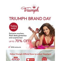 [Triumph] Triumph x Lazada Brand Day Up to 70% Off!