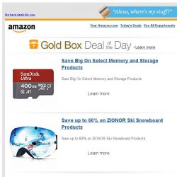 [Amazon] Save Big On Select Memory and Storage Products