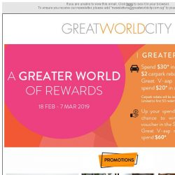 [Great World City]  March Specials @ Great World City!