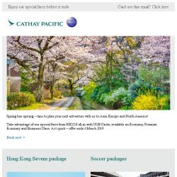 [Cathay Pacific Airways] Last five days: travel with UOB Cards from SGD218 all-in