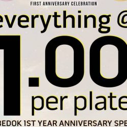 Sushi Express: Heartbeat Bedok's Anniversary Promo - Everything at $1.00++ Per Plate!