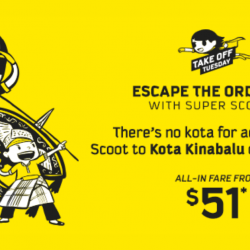 Scoot: Extended Take Off Tuesday Sale with Brand NEW Destinations from $51!