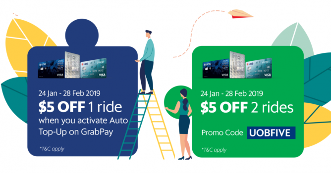 Grab: Enjoy $5 off Your Ride with Your UOB Credit/Debit Card! - 👑BQ