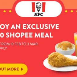 KFC: Enjoy a 1-Pc Chicken Meal for only $3.30!