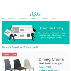 [HipVan] ⏰Today's deal:Dining Chairs from $49 only!⏰
