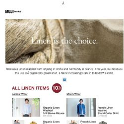 [Muji] MUJI | Linen is the Choice