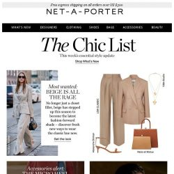 [NET-A-PORTER] , discover the surprising shade we love right now