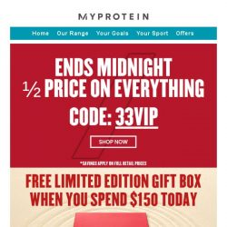 [MyProtein] Monday blues? Flash sale extended today! 💪