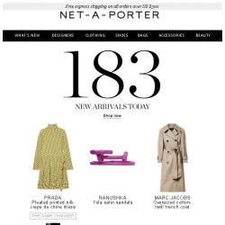 [NET-A-PORTER] Looking for that perfect new piece? Here's 183 to choose from