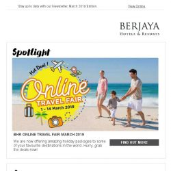 [Berjaya Hotels & Resorts EDm] Marvelous March is here - it's time for holiday!