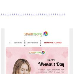 [Floweradvisor] Happy Women's Day Sale! ❤ 15% Off Blooms!