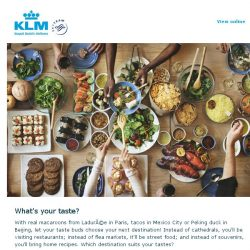 [KLM] See the different flavours we have to offer!