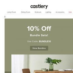 [Castlery] Good Things Come Together…10% off!
