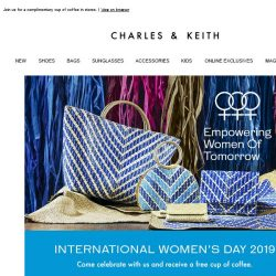 [Charles & Keith] Celebrate International Women's Day 2019 With Us