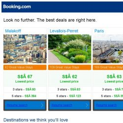 [Booking.com] Malakoff, Levallois-Perret, or Paris? Get great deals, wherever you want to go
