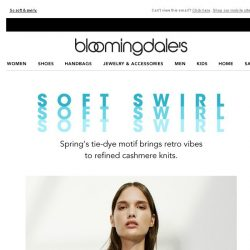 [Bloomingdales] Spring cashmere: Tie-dye's modern spin