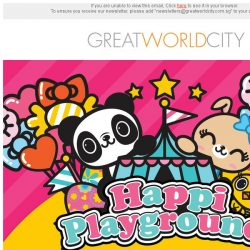 [Great World City]  Join in the fun with HappiPlayground at Great World City (8 - 24 Mar 2019)!