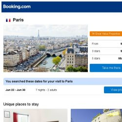 [Booking.com] Prices in Paris dropped again – act now and save more!
