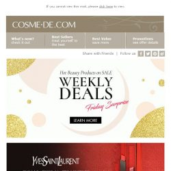 [COSME-DE.com] Friday special feature ♥ YSL, Elizabeth Arden ➤ Shop now