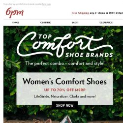 [6pm] Comfortable Shoes + Sale = Happiness
