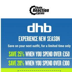 [Chain Reaction Cycles] 3 words: 25% Off dhb