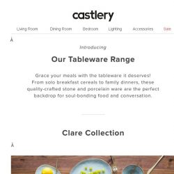 [Castlery] Feast Your Eyes! Introducing Our Tableware Range