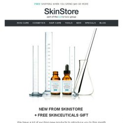 [SkinStore] FREE SkinCeuticals Gift + New Products For SkinStore!