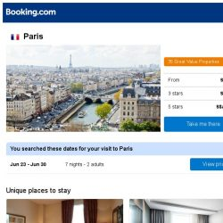 [Booking.com] Prices in Paris are dropping for your dates!