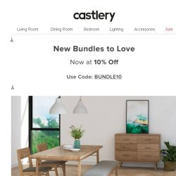 [Castlery] New Dining Bundles with a Bang! For your Buck.