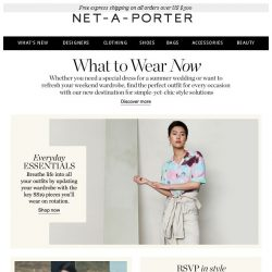 [NET-A-PORTER] A masterclass on what to wear now