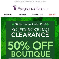 [FragranceNet] 🍀 It's your lucky day! 🍀