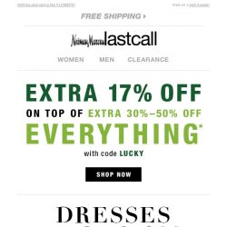 [Last Call] Dresses UNDER $99 + extra 17% off on top of sale