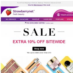 [StrawberryNet] , 💰 Last Chance, cuz Extra 10% Off Everything ends Tomorrow!