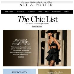 [NET-A-PORTER] Evening dresses with a fashion twist