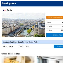 [Booking.com] Deals in Paris from S$ 633