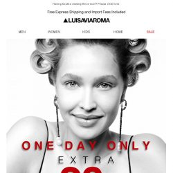 [LUISAVIAROMA] Sale: One Day Only! 20% off